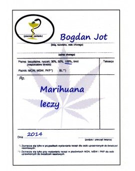 """Książka """"Marihuana Leczy """" Bogdan Jot"""