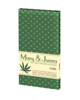 Czekolada mleczna Mary & Juana z łuskanymi nasionami konopi
