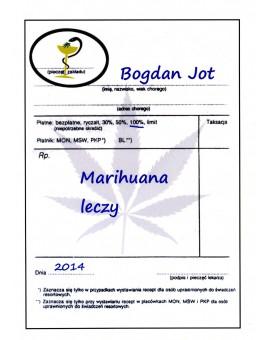 """""""Marihuana Leczy"""" Bogdan Jot"""