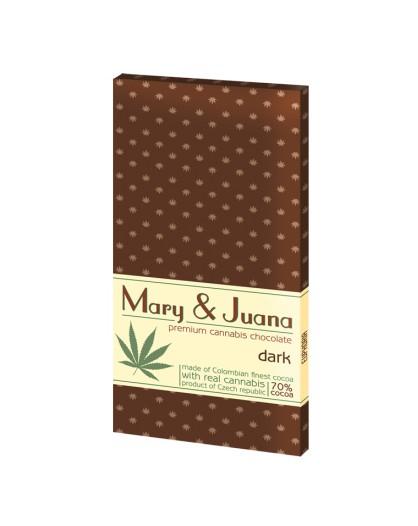 Czekolada gorzka Mary & Juana z łuskanymi nasionami konopi