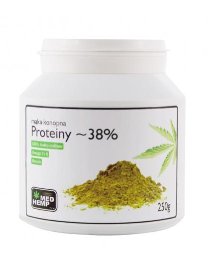Mąka konopna - proteiny 38% 250g