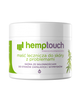 Maść lecznicza do skóry z problemami HEMPTOUCH