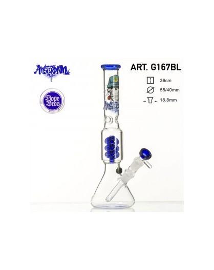 Bongo Grace Glass SKULL SPIRAL 36 cm