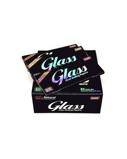 Luxe Glass Clear King Size Bibułki Przezroczyste