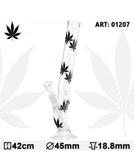 Multi Black Leaf Bolt Glass Bong