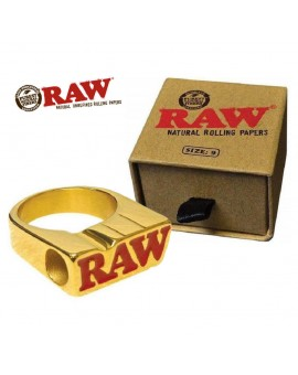 Raw Ring 24k Gold Sygnet na jointa