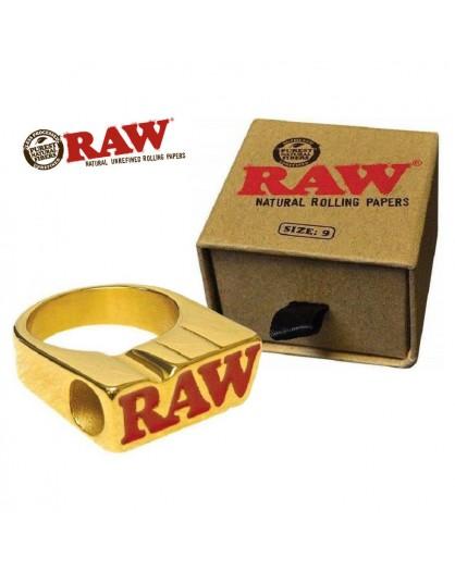 Raw Ring 24k Gold Sygnet na jointa
