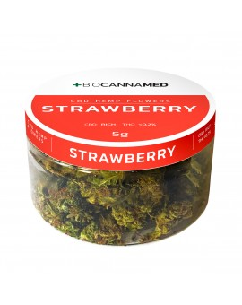 CBD HEMP STRAWBERRY SUSZ Z KWIATÓW KONOPI 1 g