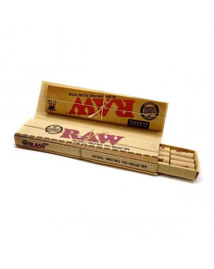 Bibułki RAW Connoisseur King Size Slim + Pre-Rolled Tips