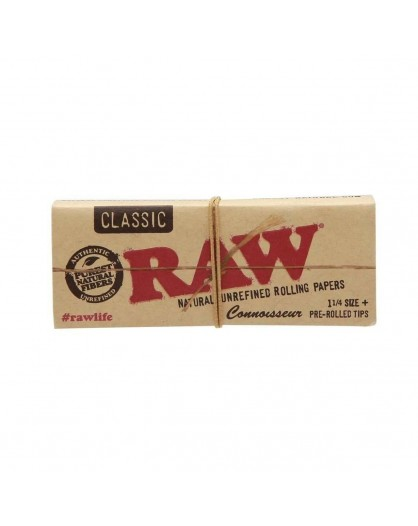 Bibułki RAW Connoisseur Classic 1 1/4 + Pre Rolled Tips
