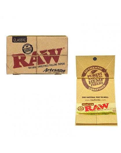 Bibułki RAW Artesano Organic Hemp 1 1/4