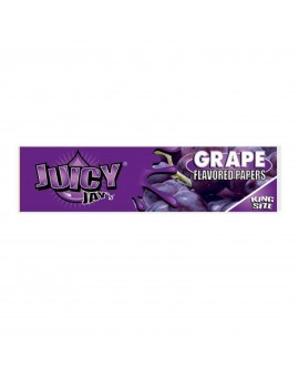 Bibułki smakowe Juicy Jay's Grape King Size Slim