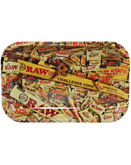 RAW MIX tacka do zwijania jointów rolling tray metalowa SMALL