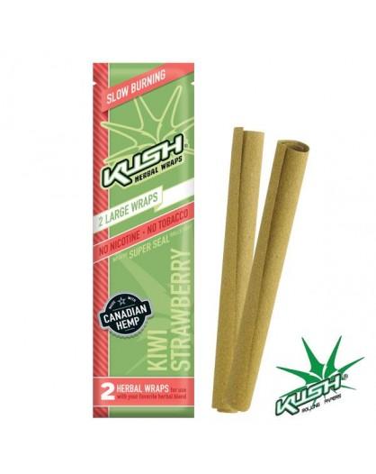 Smakowe Blunt Wrapy - KUSH Herbal Wraps - Kiwi/Strawberry 2szt