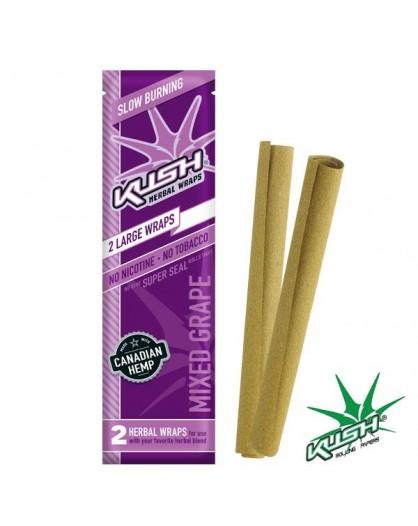 Smakowe Blunt Wrapy - KUSH Herbal Wraps - Grape 2szt.