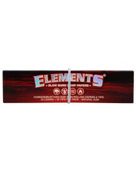 Elements Red Connoisseur King Size Slim & Tips