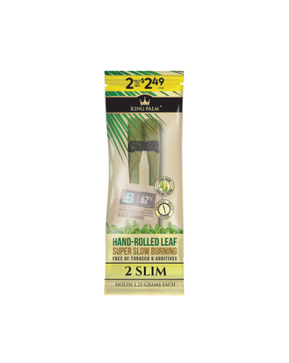 King Palm 2 Slim Rolls - Hand-Rolled Leaf - Liść palmowy