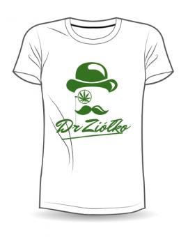 T-Shirt/Koszulka damska DrZiółko biała