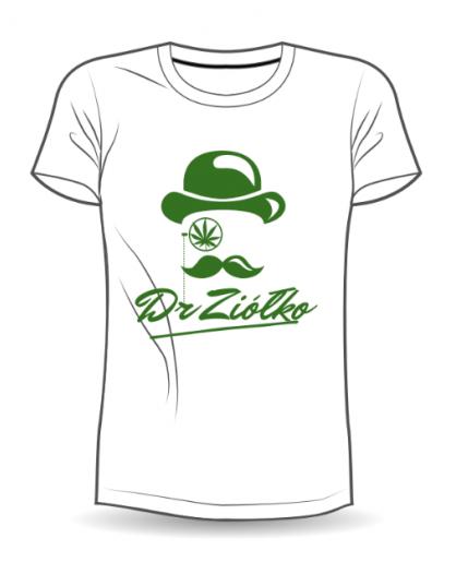 T-Shirt damski biały Dr.Ziółko