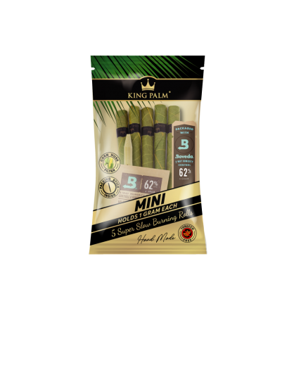 King Palm 5 Mini Rolls - Hand-Rolled Leaf - Liść Palmowy