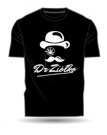 T-Shirt/Koszulka męska czarna DrZiółko