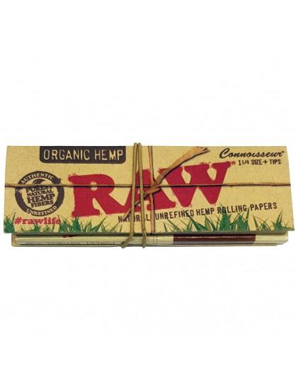 Bibułki RAW Connoisseur Organic Hemp 1 1/4