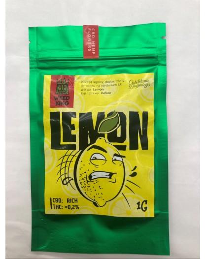 Lemon Susz Konopny CBD Weed King 1g