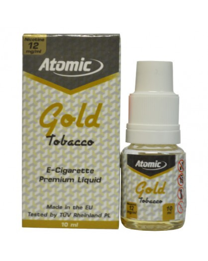 LIQUID ATOMIC || 10 ML || GOLD TABACCO FLAVOUR