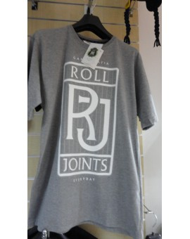 T-SHIRT GANJA MAFIA ROLL JOINTS || SZARY rozm. L , XL