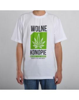 Koszulka Wolne Konopie Biała
