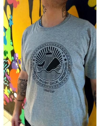 T-Shirt Dinafem Moby Dick SZARA